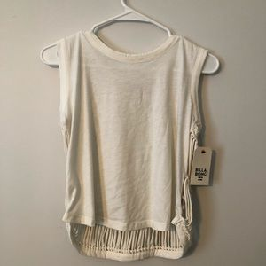 White billabong crop tank
